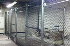 Interior Chain Link Enclosure with Slide Gate