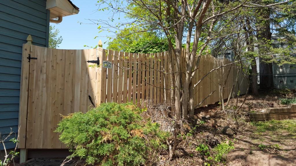 White Amp Red Cedar Fence Installation Wood Fence Design