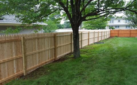 Number one grade cedar stockade