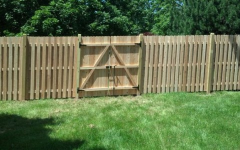 Cedar Board on Board with Drive Gate