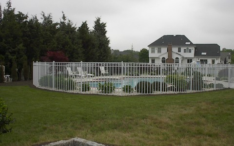 White Aluminum Pool Fence (Alt. View)