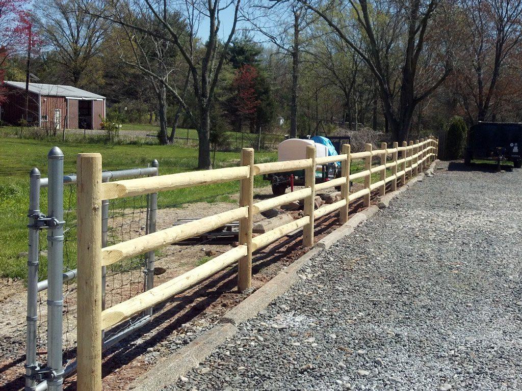 White red cedar fence installation wood design