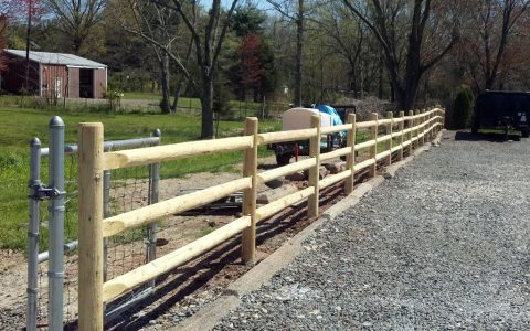 3 Rail Wooden Fence