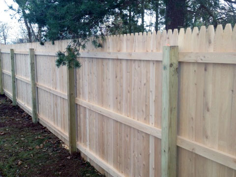 White & Red Cedar Fence Installation - Wood Fence Design New