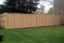 Cedar Fence With 5×5 Posts