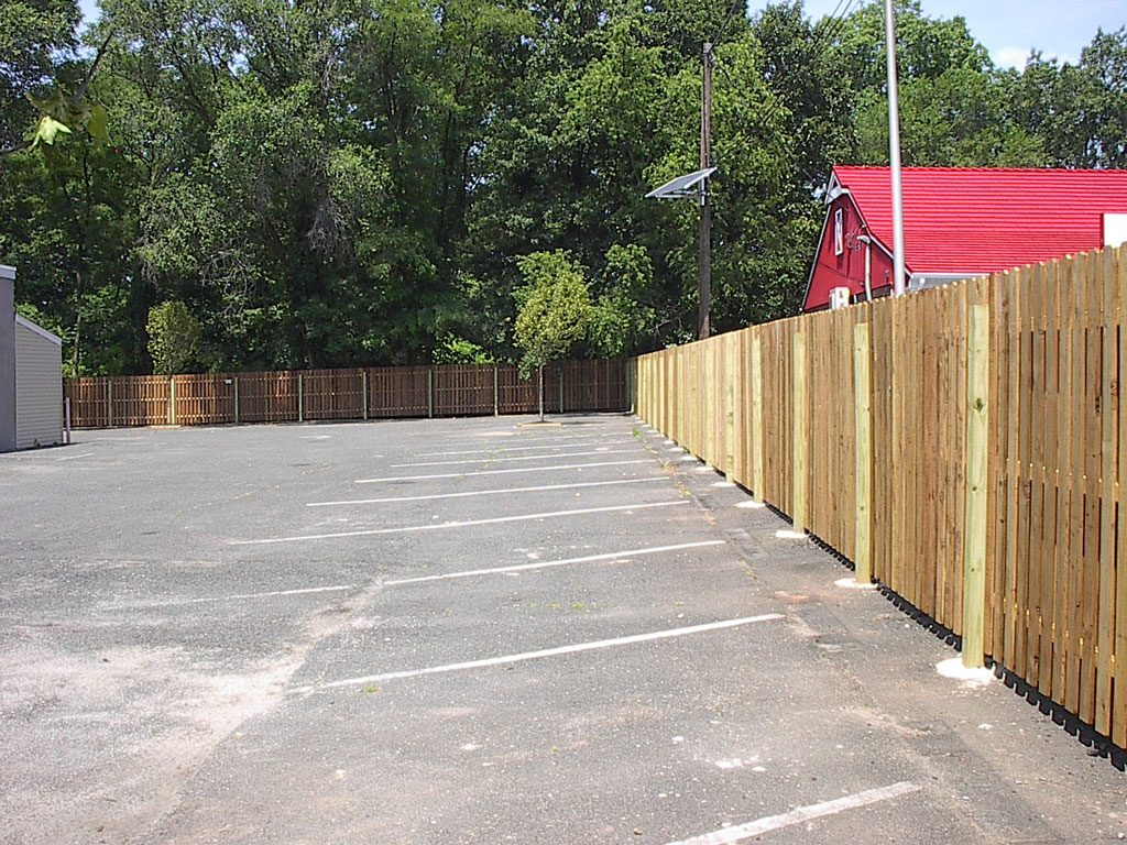 White red cedar fence installation wood design