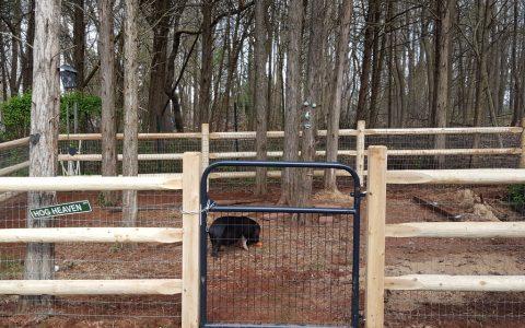 Slip Rail Wire Fence