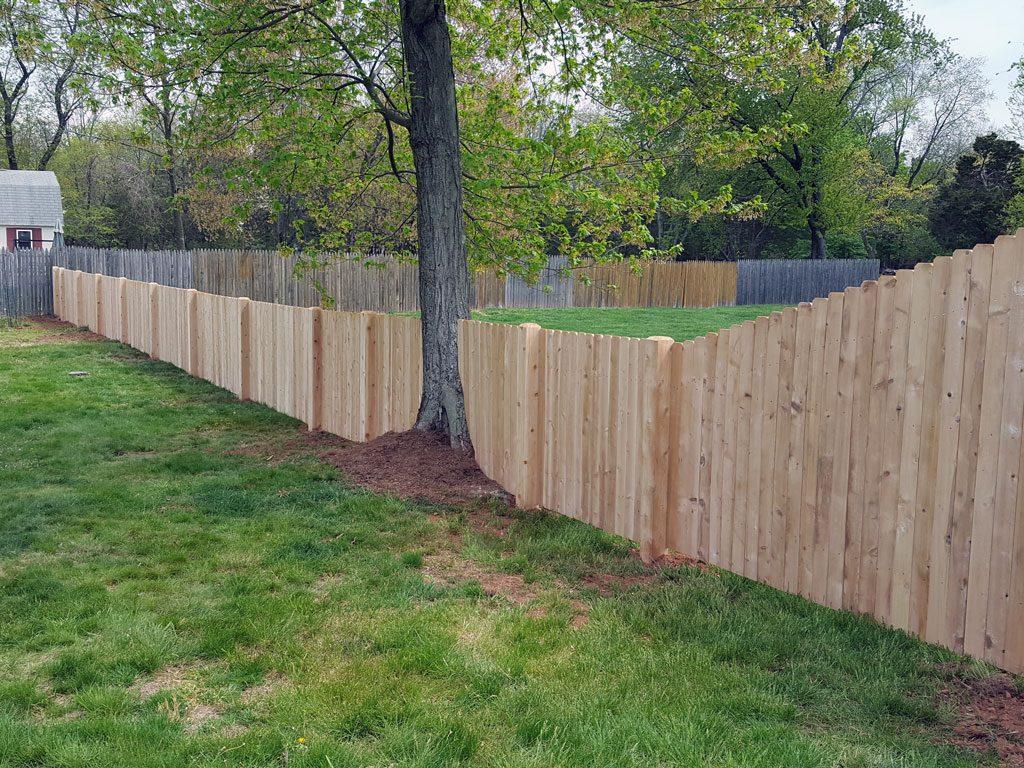 white u0026 red cedar fence installation wood fence design new jersey