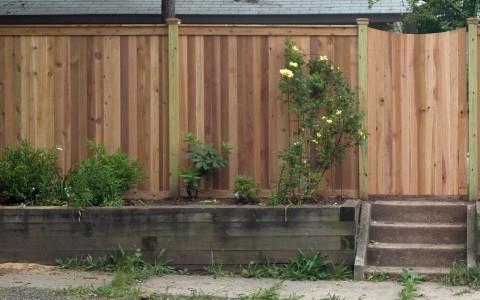 Cedar Capped Board Fence