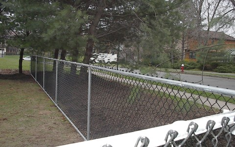 Chain Link with Top and Bottom Rail