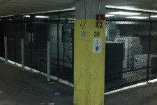 Screening on Chain Link Enclosure