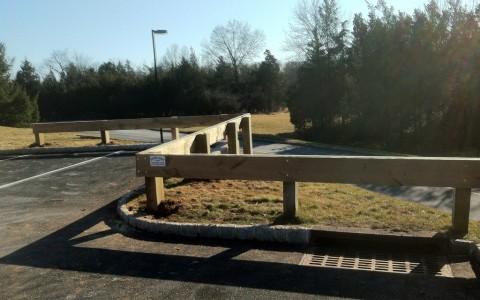 Heavy Wood Guard Rail