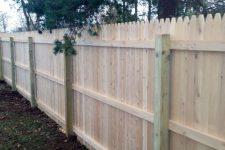 Cedar Backyard Fence