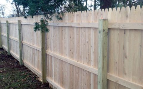 Cedar Backyard Fence